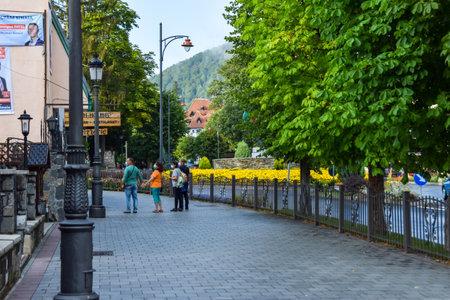The beautiful streets of Sinaia, Romania