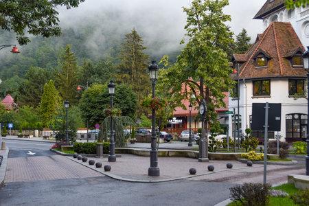 Stylish hotel from the main street of Sinaia, Romania