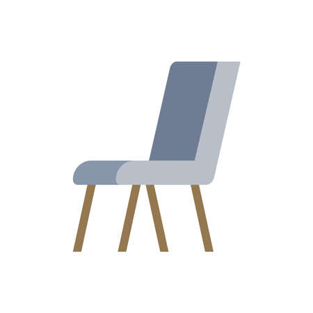 Chair, kitchen or office furniture. vector