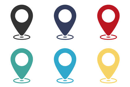 Location vector icon. Element of interface for mobile concept and web apps illustration. Thin glyph icon for website design and development, app development. Illustration