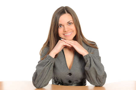 Business woman portrait smiling