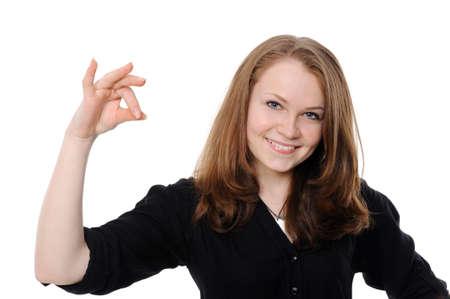 Beautiful woman holding empty white board  Stock Photo - 8583641