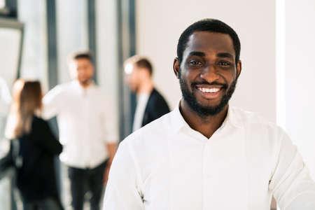 Portrait of black office worker