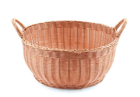 isoleted: Willow basket isoleted on white