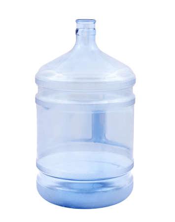 Big empty bottle isolated on white photo