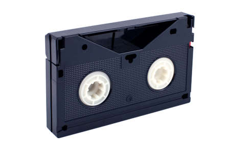 videocassette: videocassette isolated on white background