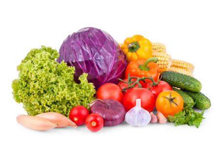 Set of vegetables isolated on a white background photo