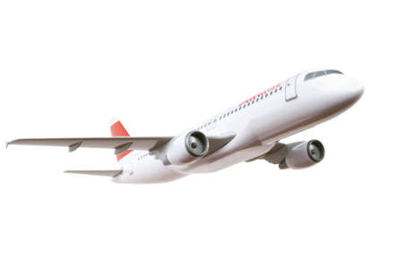 commercial plane model isolated on white background Stock Photo