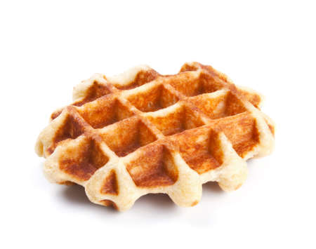 Sweet Belgium waffer isolated on white background Reklamní fotografie