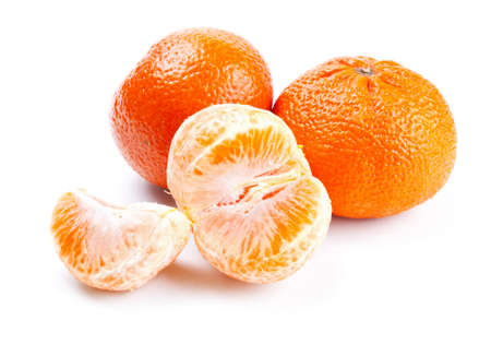 fresh tangerine isolated on white background Stock Photo - 13514936