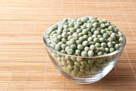 glass bowl full of green peas Stock Photo - 13840137