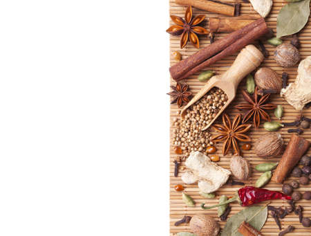 Background with spices and herbs Stock Photo - 13840724