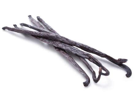pod: Vanilla pods isolated on white background