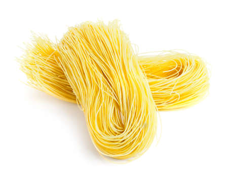 vermicelli: italian spaghetti isolated on white background