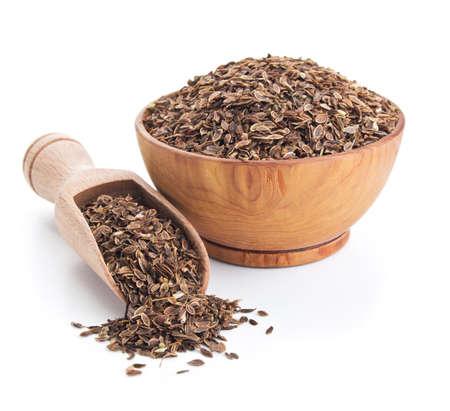dill seeds isolated on white  Reklamní fotografie