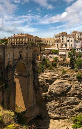nuevo: Stone bridge Puente Nuevo in Ronda, Malaga, Spain