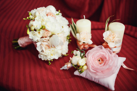boutonniere: wedding bouquet boutonniere candles RING