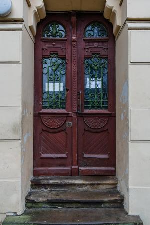 praga: Old door in Paris lviv praga.