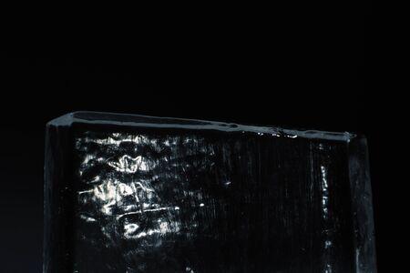 ice sculpture in the dark