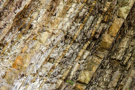 Mineral rock. Natural stone texture. Layers of rock. Stratum texture