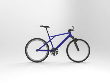 Bicycle on background. 3d render.
