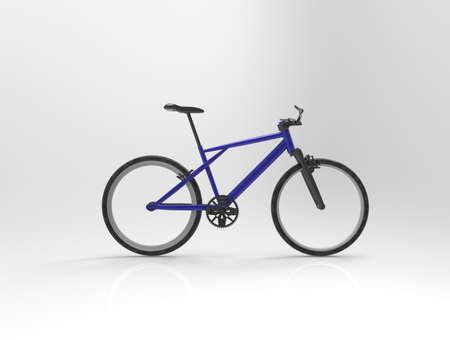 titanium: Bicycle on background. 3d render.