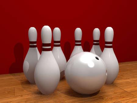 rendering: Bowling. 3D rendering. Stock Photo