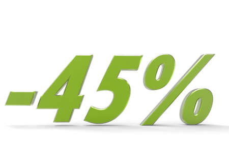 Christmas sale. Discount 45 percent off. 3D rendering Stock Photo