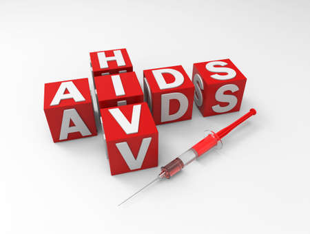 sexual intercourse: Aids and hiv text on background. 3D rendering. Stock Photo