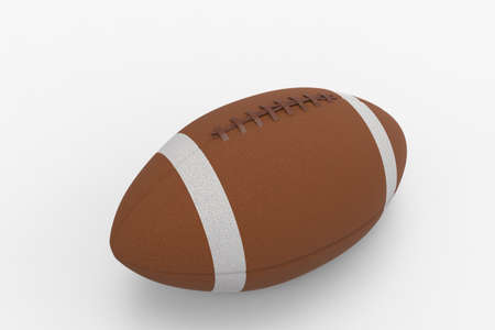 afc: American football, ragby ball. Isolated on white background. 3D rendering. Stock Photo