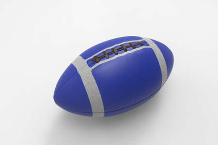 Rugby ball. American soccer ball. Ball for Rugby. Ball for American football. 3D rendering. Stock Photo