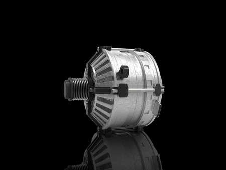 alternateur: Car alternator isolated on a background. 3D rendering.