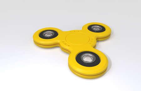 kamikaze: Spinner. Toy. White background. 3D rendering. Stock Photo