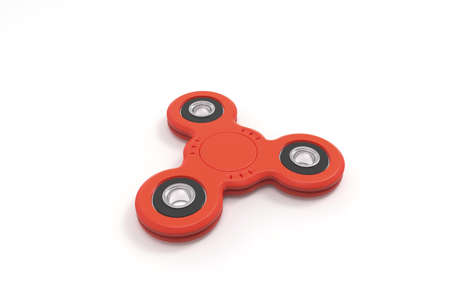 Spinner. Toy. White background. 3D rendering. Stock Photo