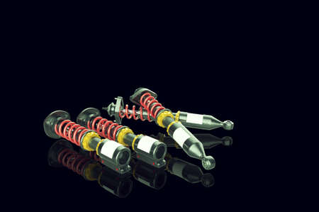 Shock absorber on background. 3D renderng. Stock Photo