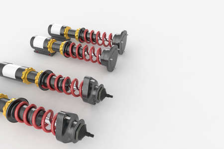 car isolated: Shock absorber on background. 3D renderng. Stock Photo