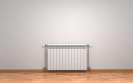 Radiateur blanc radiateur isolé sur fond blanc. rendu 3d Banque d'images - 93773285