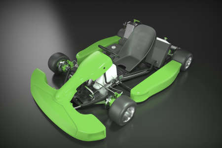 Karting. Race car for kids. 3D rendering.