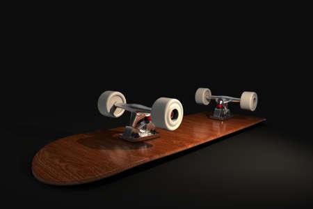Skateboard. 3D rendering. Stockfoto