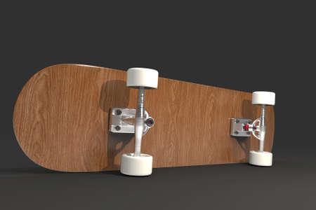 Skateboard. 3D rendering. 版權商用圖片