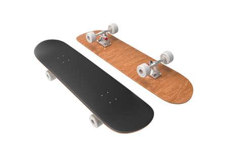 Skateboard. 3D rendering. Archivio Fotografico
