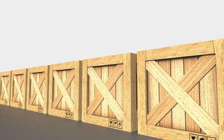 Cargo box. Wooden box.
