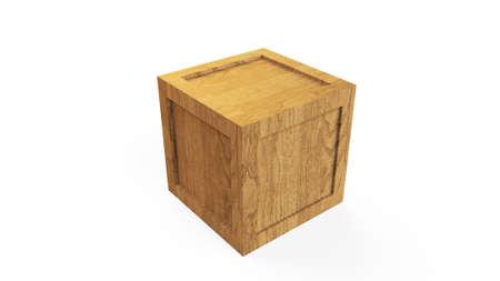 Cargo box. Wooden box. Archivio Fotografico - 123716799