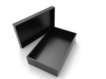 Black Box on white Archivio Fotografico