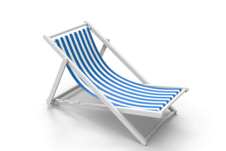 Chair for beach. 3D rendering. Archivio Fotografico - 142772192