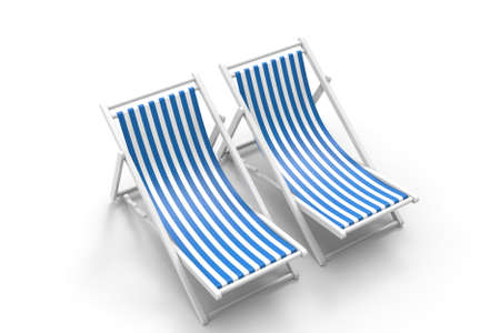 Chair for beach. 3D rendering. Archivio Fotografico - 143072353