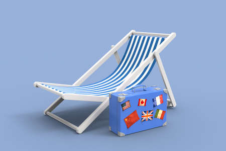 Chair for beach. 3D rendering. Archivio Fotografico - 142772327