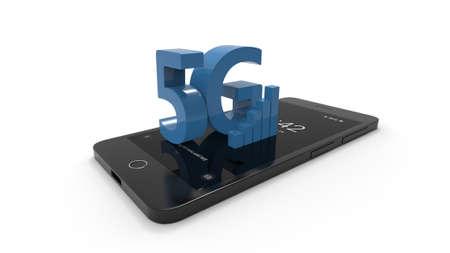 5G cellphone on white