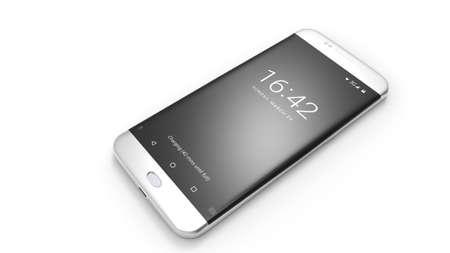 Mobile phone. Cellphone. 3d rendering.