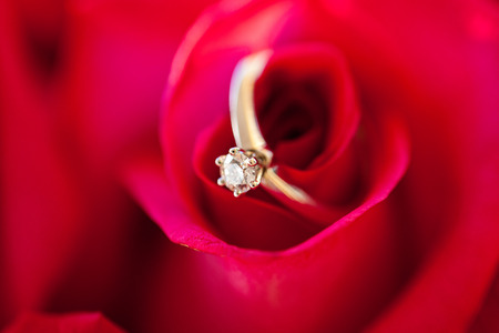 will you marry me: Wedding diamond Ring in Rose, Will you marry me